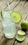 Cold drink with lime Royalty Free Stock Photography