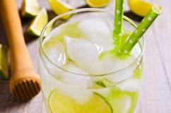 Cold drink with lime Stock Photo
