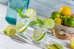 Cold drink made of citrus fruit with sugar Stock Images