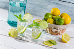 Cold drink made of citrus fruit with sugar Royalty Free Stock Photography