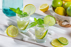 Cold drink made of citrus fruit with sugar Royalty Free Stock Photos