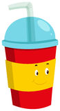 Cold drink in plastic cup. Illustration Royalty Free Stock Photography