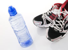 Cold drink and runners Stock Photo