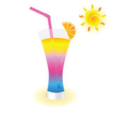 Cold drink to refresh vector illustration. Art color Royalty Free Stock Image