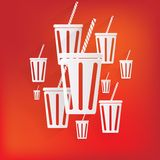 Cold drink web icon Stock Photography