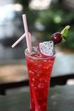 Cold drinking X-mas fruit punch Royalty Free Stock Photos