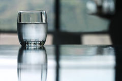 Cold drinking water glass Stock Image