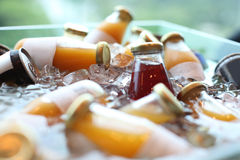 Cold drinks. In ices water Stock Image