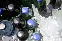 Cold drinks on Ice Stock Images