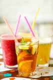 Cold drinks. Cold refreshing drinks for lunch stock photos