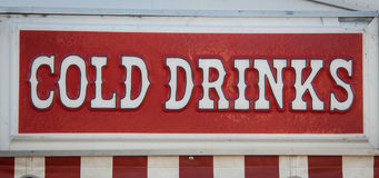 Cold drinks sign Stock Photos