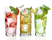 Cold Drinks With Fruits Royalty Free Stock Photo