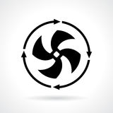 Cold fan vector icon. Illustration Royalty Free Stock Photography