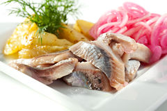 Cold Fish Dishes - Fish with Potato Royalty Free Stock Photo