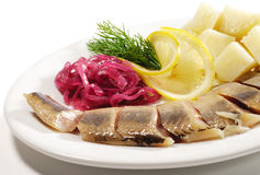 Cold Fish Dishes - Kipper with Potato Royalty Free Stock Images
