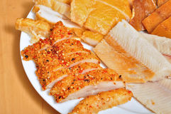 Cold fish platter Stock Photo