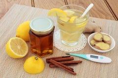 Cold and Flu Alternative Medicine Royalty Free Stock Photos