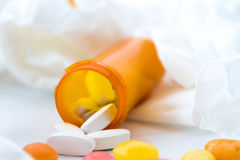Cold and flu over the counter medications Royalty Free Stock Image