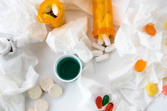 Cold and flu over the counter medications Stock Photo