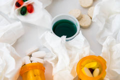 Cold and flu over the counter medications Stock Images