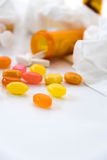 Cold and flu over the counter medications Stock Photography