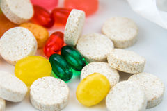 Cold and flu over the counter medications Royalty Free Stock Images