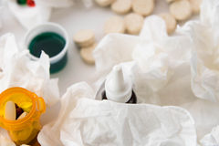 Cold and flu over the counter medications Royalty Free Stock Photo