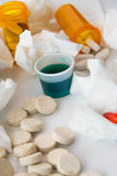Cold and flu over the counter medications Royalty Free Stock Photos