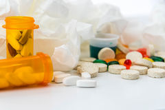 Cold and flu over the counter medications Stock Photos