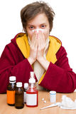 Cold and flu season stock image