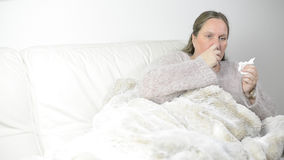 Cold and flu stock footage