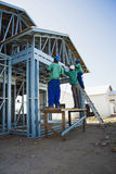 Cold Formed Steel Framing - Construction Site Stock Photo