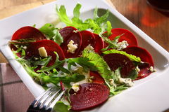 Cold fresh beetroot salad Royalty Free Stock Images