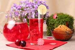 Cold fresh berry mors drink Stock Photo