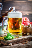 Cold and fresh cider beer Royalty Free Stock Photography