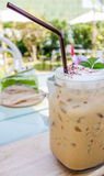 Cold fresh ice capuchino coffee Royalty Free Stock Photography