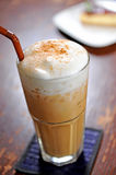 Cold fresh ice coffee. In this morning Royalty Free Stock Image