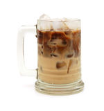 Cold fresh ice coffee. With chocolate close up Royalty Free Stock Photos