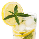 Cold fresh lemonade. Drink with mint Stock Photography