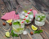 Cold fresh lemonade drink Royalty Free Stock Images