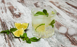 Cold fresh lemonade drink Stock Images