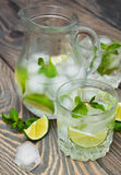 Cold fresh lemonade drink Royalty Free Stock Photo