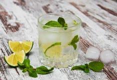 Cold fresh lemonade drink Royalty Free Stock Photos