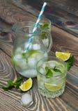 Cold fresh lemonade drink Stock Photography