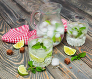 Cold fresh lemonade drink Royalty Free Stock Photography