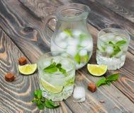 Cold fresh lemonade drink Stock Photos