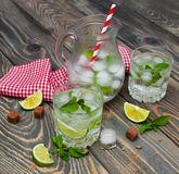 Cold fresh lemonade drink Royalty Free Stock Images