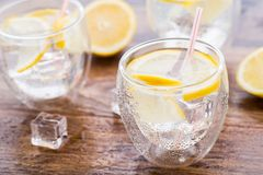 Cold fresh lemonade Stock Photos
