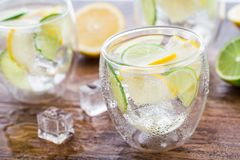 Cold fresh lemonade Stock Photo