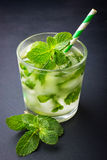 Cold fresh lemonade with mint Royalty Free Stock Image